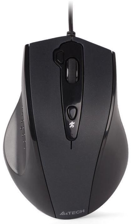 Мышь A4 V-Track Padless N-810FX, оптическая, проводная, USB, черный