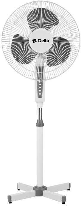 Вентилятор напольный DELTA DL-020N,  белый и серый