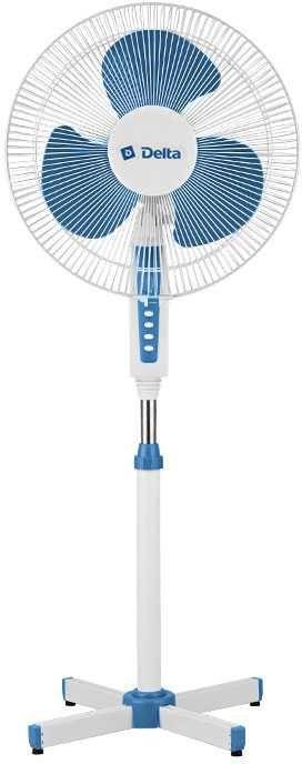 Вентилятор напольный DELTA DL-020N,  белый и синий