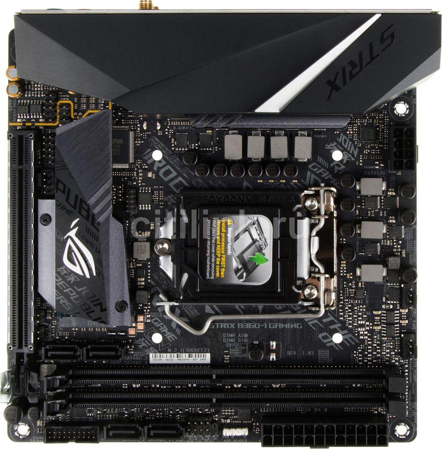 Материнская плата ASUS ROG STRIX B360-I GAMING, LGA 1151v2, Intel B360, mini-ITX, Ret