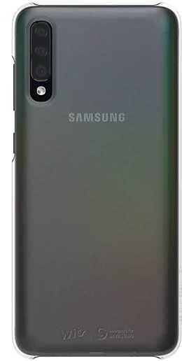 Чехол (клип-кейс) SAMSUNG Wits Premium Hard Case, для Samsung Galaxy A70, серебристый [gp-fpa705wsasw]