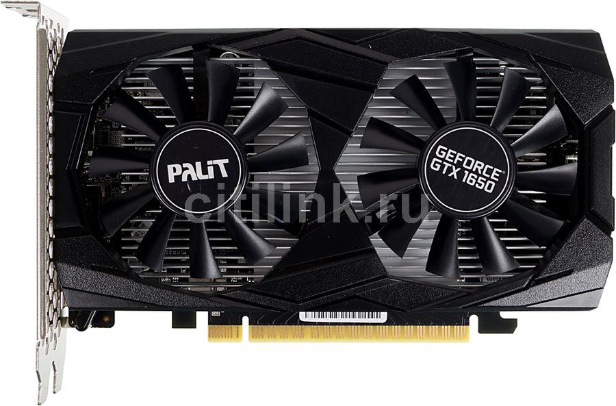 Видеокарта PALIT nVidia  GeForce GTX 1650 ,  PA-GTX1650 DUAL OC 4G,  4Гб, GDDR5, OC,  Ret [ne51650t1bg1-1171d]
