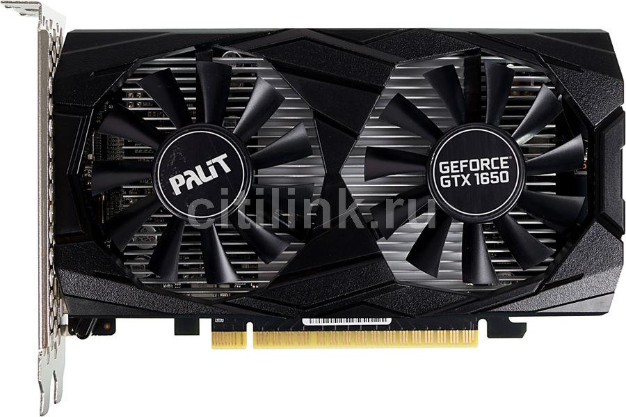 Видеокарта PALIT nVidia  GeForce GTX 1650 ,  PA-GTX1650 DUAL 4G,  4Гб, GDDR5, Ret [ne5165001bg1-1171d]