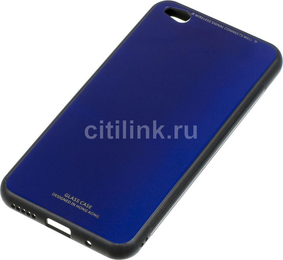 Чехол (клип-кейс) GRESSO Gresso Гласс, для Xiaomi Redmi Go, синий [gr17gls214]