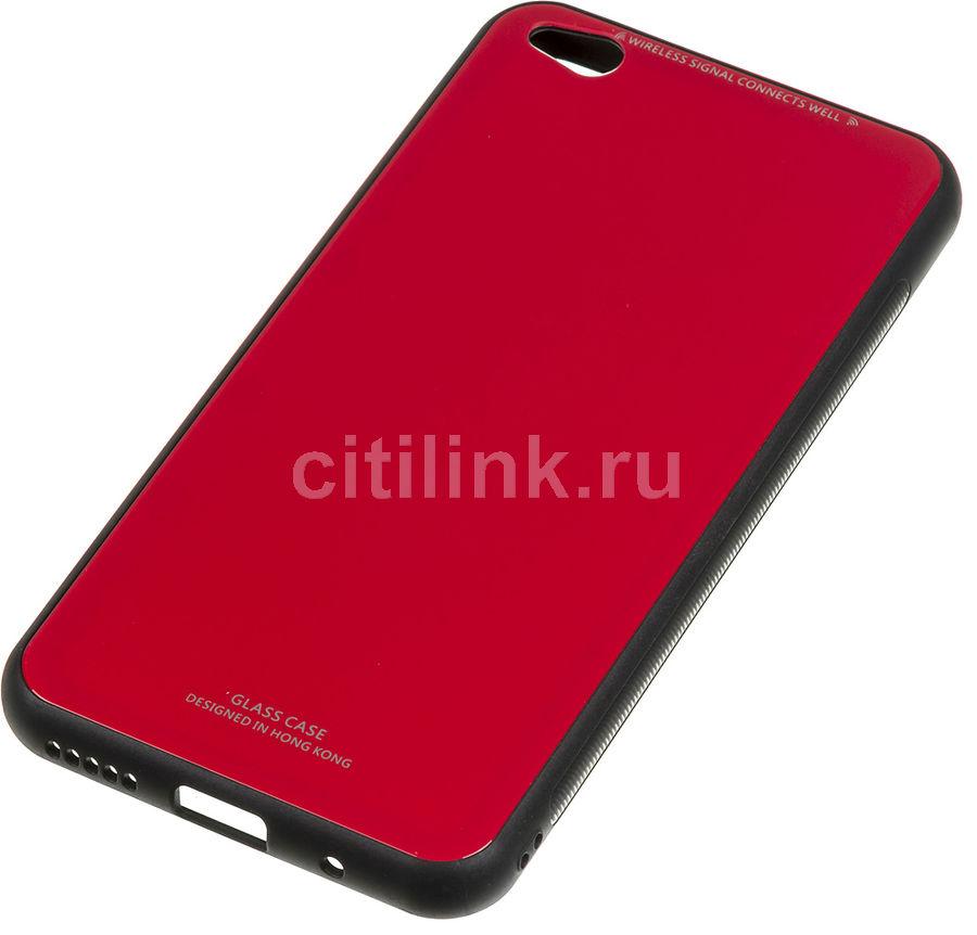 Чехол (клип-кейс)  Gresso Гласс, для Xiaomi Redmi Go, красный [gr17gls213]