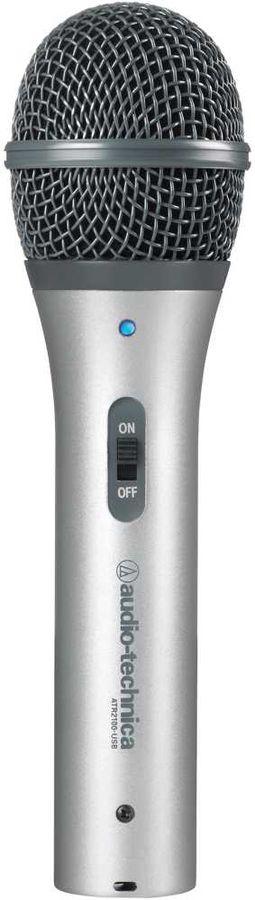 Микрофон AUDIO-TECHNICA ATR2100-USB,  серебристый [80000212]