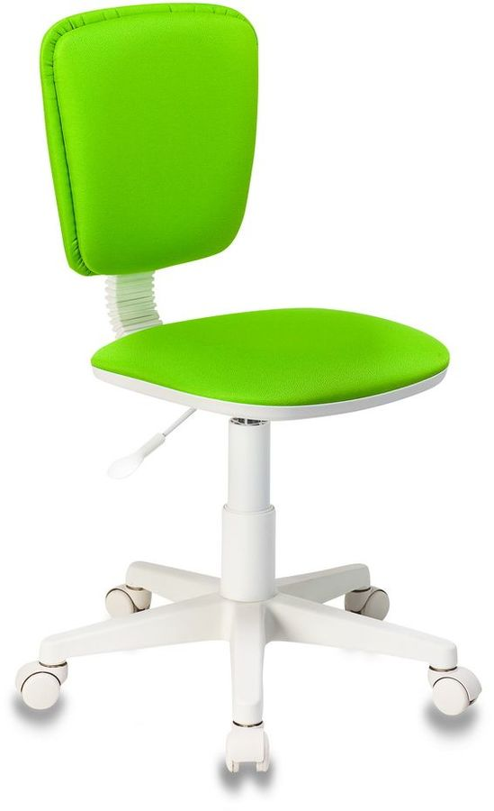 Кресло детское БЮРОКРАТ CH-W204NX, на колесиках, ткань, салатовый [ch-w204nx/15-118]