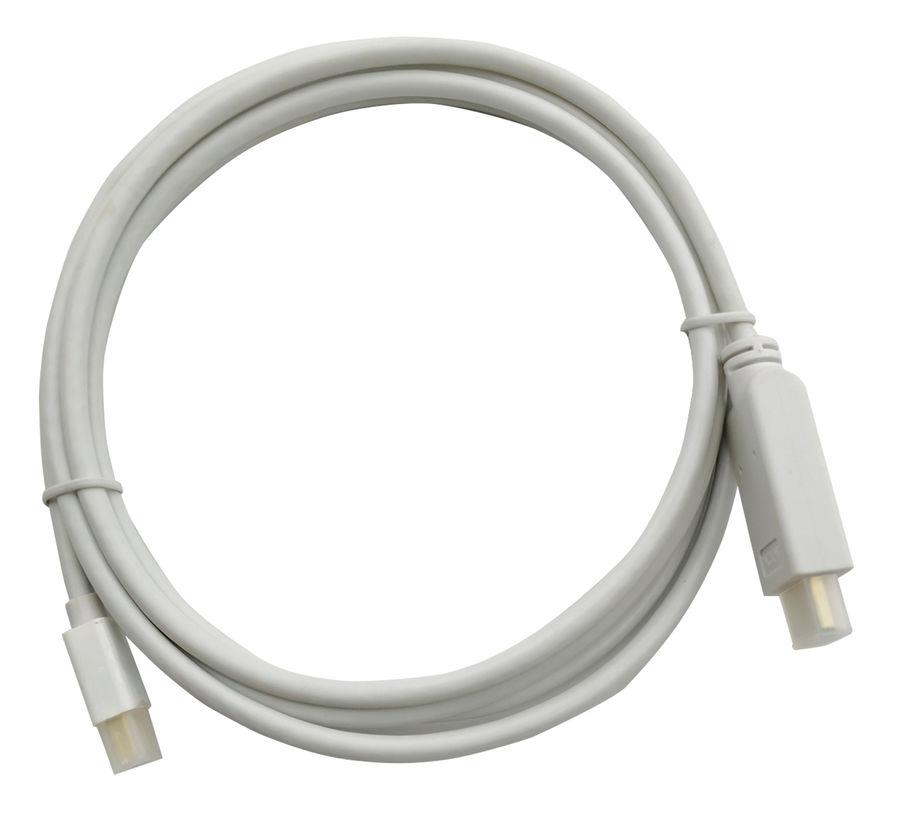 Кабель аудио-видео BURO 1.2v,  miniDisplayport (m)  -  HDMI (m) ,  2м, GOLD белый [bhp mdpp-hdmi-2]