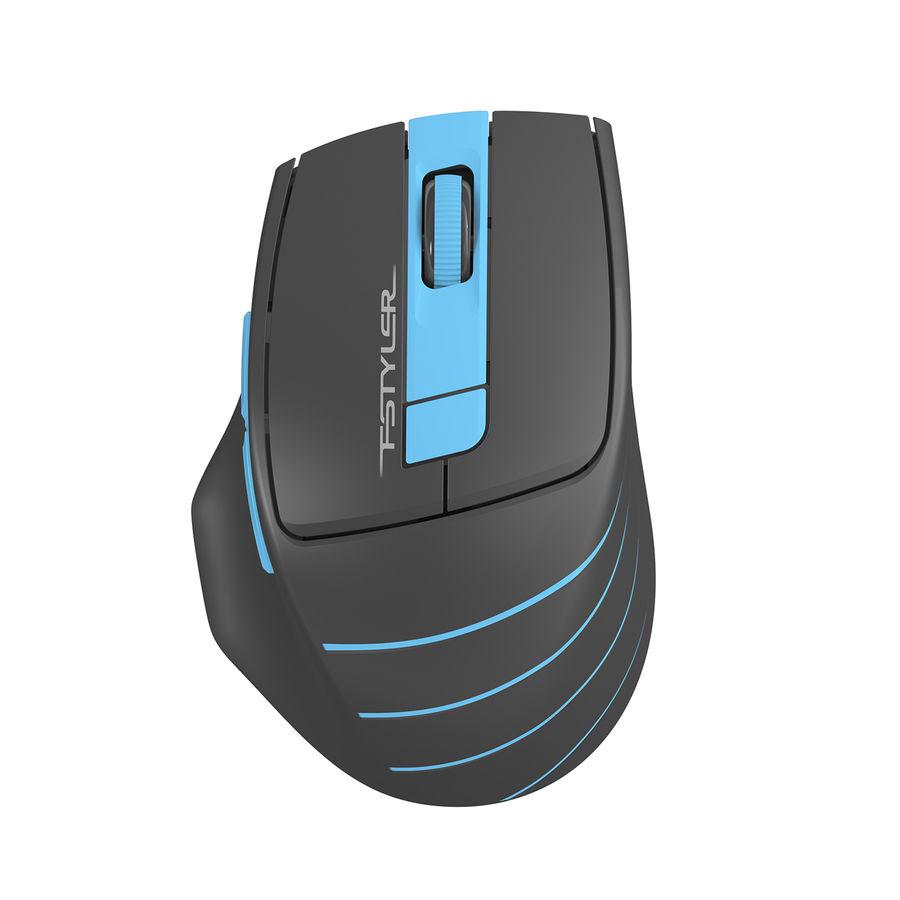 Мышь A4 Fstyler FG30, оптическая, беспроводная, USB, серый и синий [fg30 blue]