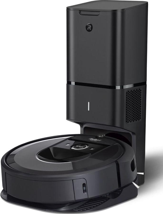 Робот-пылесос IROBOT Roomba i7 PLUS, серый/черный