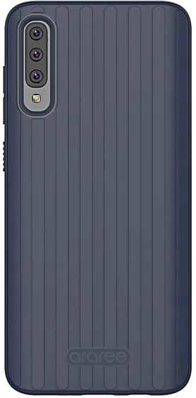 Чехол (клип-кейс) SAMSUNG araree Airdome, для Samsung Galaxy A70, синий [gp-fpa705kdblr]