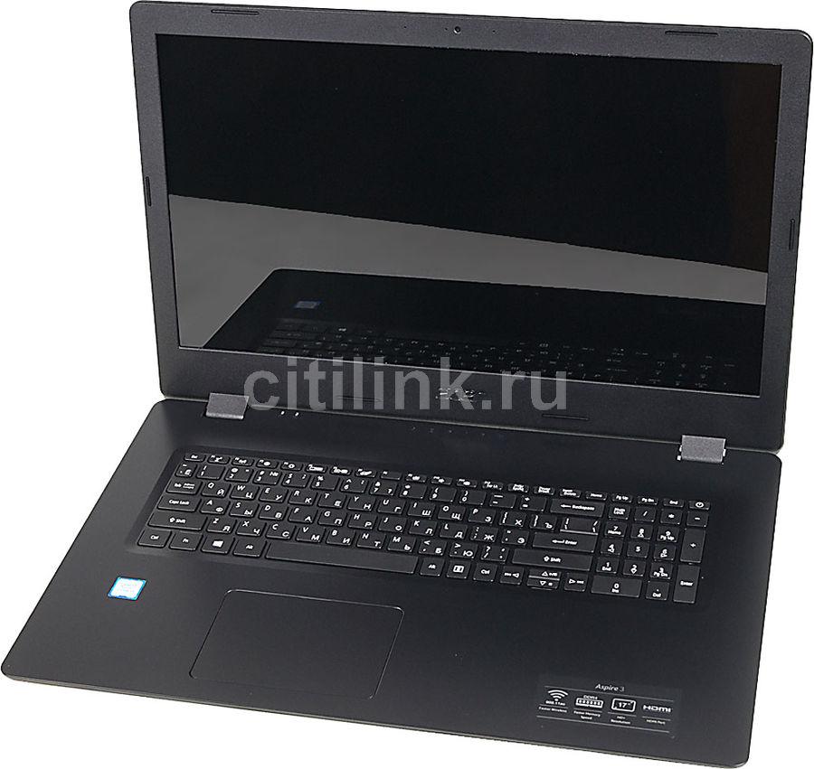 """Ноутбук ACER Aspire A317-51-53UP, 17.3"""",  Intel  Core i5  8265U 1.6ГГц, 4Гб, 1000Гб,  Intel UHD Graphics  620, Linux, NX.HEMER.007,  черный"""