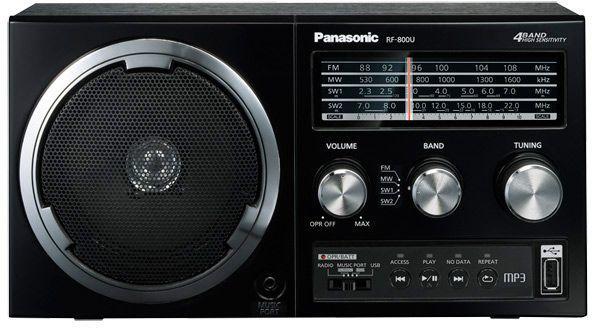 Радиоприемник PANASONIC RF-800UEE1-K,  черный