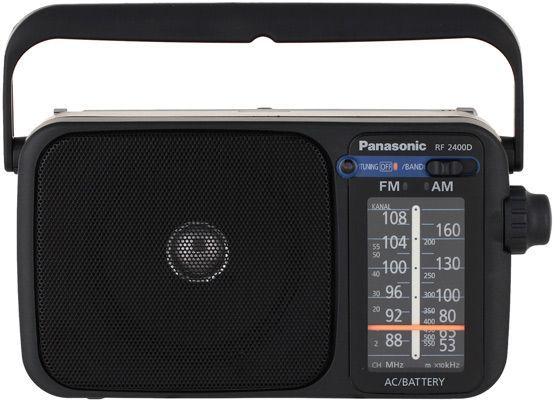 Радиоприемник PANASONIC RF-2400DEE-K,  черный