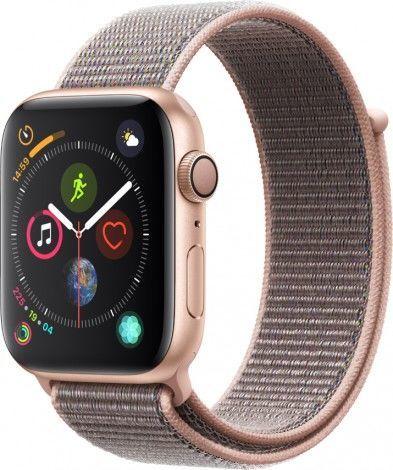 Смарт-часы APPLE Watch Series 4 44мм,  золотистый / розовый [mu6g2/a]