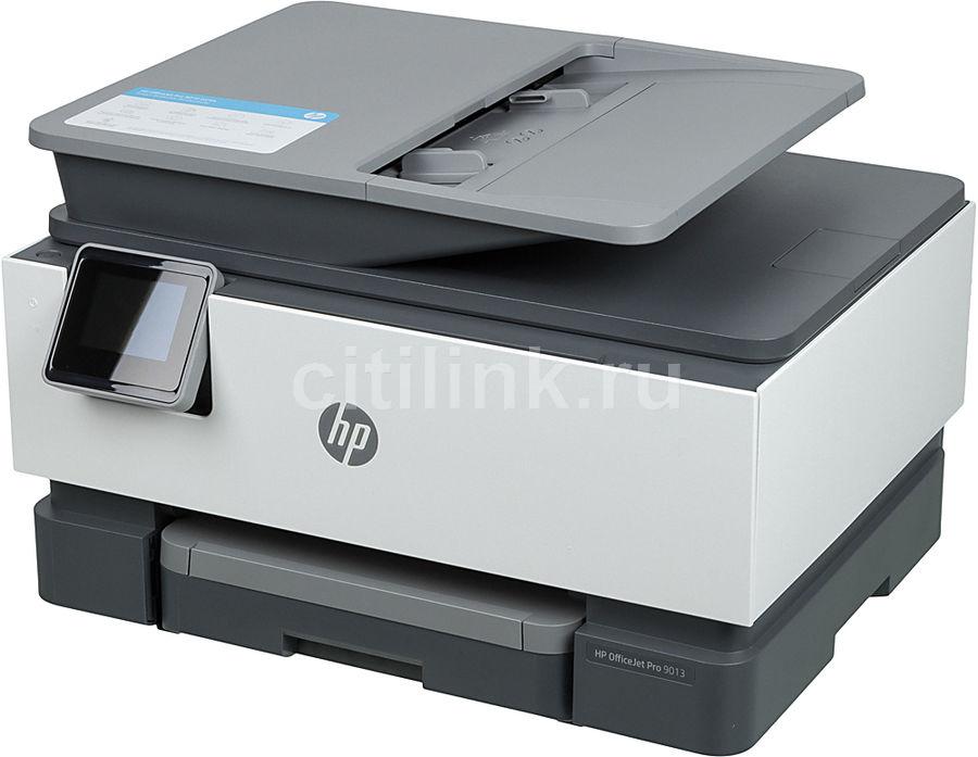 МФУ струйный HP Officejet Pro 9013 AiO, A4, цветной, струйный, белый [1kr49b]