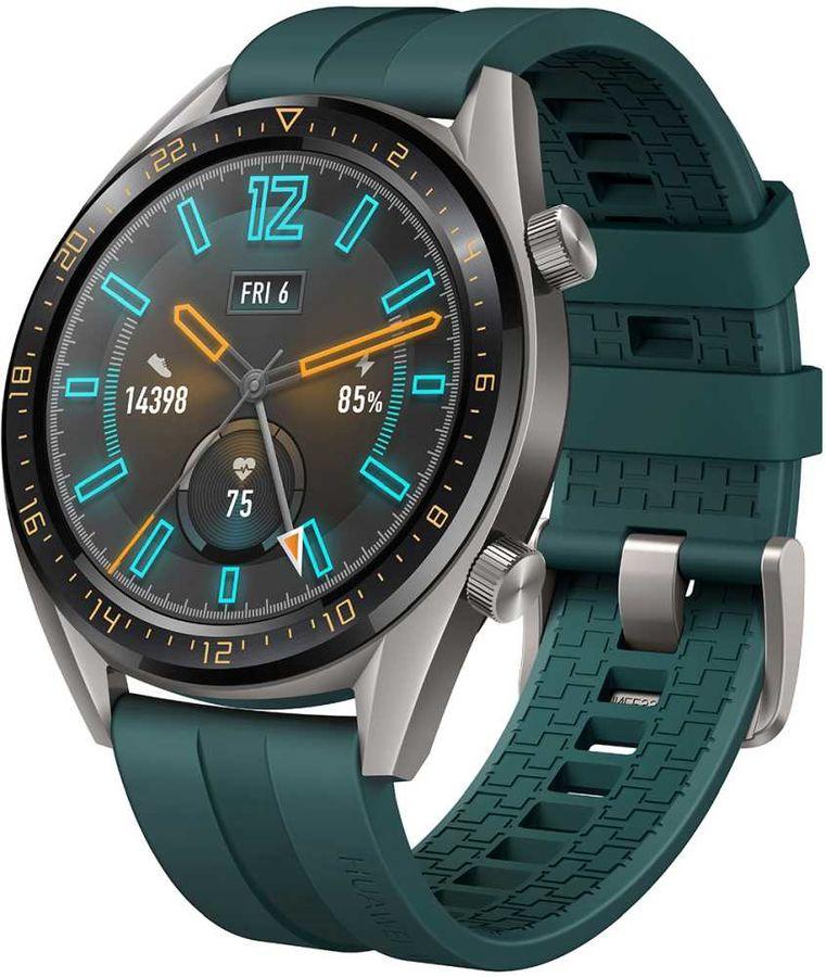 """Смарт-часы HUAWEI Watch GT Active,  46мм,  1.4"""",  темно-зеленый / темно-зеленый [55023852]"""