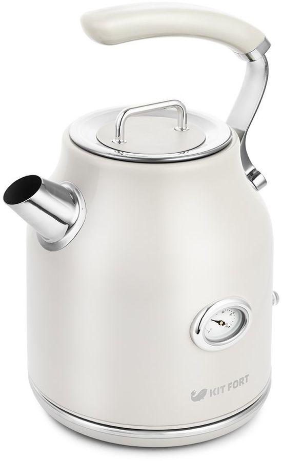 Чайник электрический KITFORT КТ-663-1, 2200Вт, бежевый