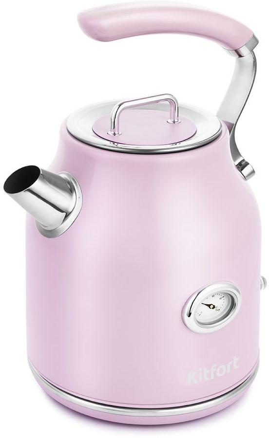 Чайник электрический KITFORT КТ-663-3, 2200Вт, розовый