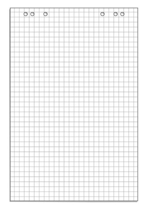 Блок бумаги для флипчартов 445526 белый клетка 20лист. (упак.:1шт)