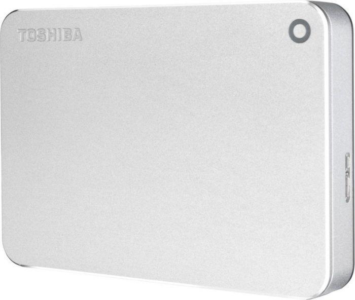 Внешний жесткий диск TOSHIBA Canvio Premium HDTW240ES3CA, 4Тб, серебристый