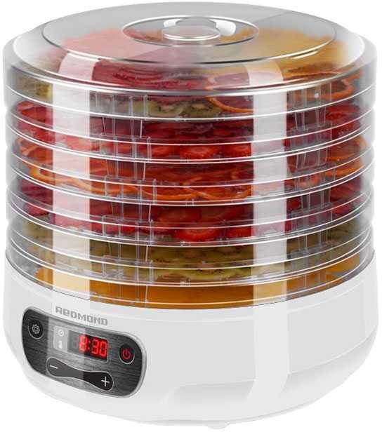 Сушилка для овощей и фруктов REDMOND RFD-0158,  белый,  5 поддонов