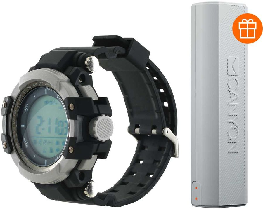 """Смарт-часы CANYON CNS-SW51BB + PB,  1.2"""",  черный/серебристый / черный [ds1cnssw51bb+pb]"""
