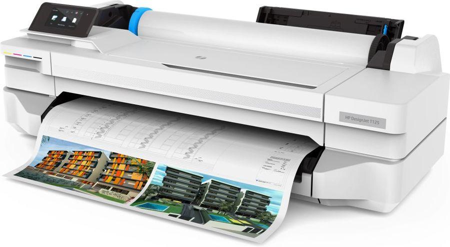 """Плоттер HP Designjet T125,  24"""" [5zy57a]"""