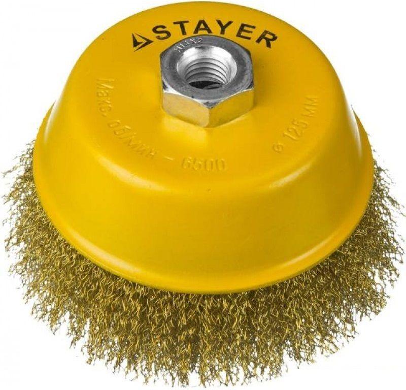 Щетка дисковая STAYER 35125-125,  по металлу,  125мм