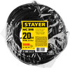 Удлинитель силовой Stayer 55028-20 3x1.5кв.мм 1розет. 20м ПВС без катушки черный вид 5