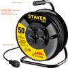 Удлинитель силовой Stayer 55076-50 3x2.5кв.мм 4розет. 50м КГ катушка черный вид 5