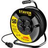 Удлинитель силовой Stayer 55077-50 3x1.5кв.мм 4розет. 50м КГ катушка черный вид 1