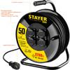 Удлинитель силовой Stayer 55077-50 3x1.5кв.мм 4розет. 50м КГ катушка черный вид 6