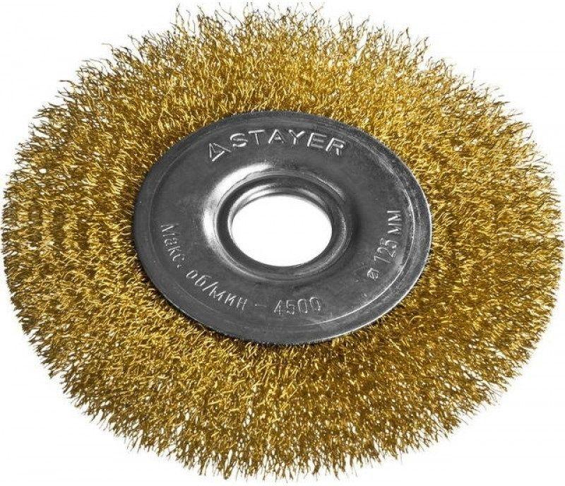 Щетка дисковая STAYER 35122-125,  по металлу,  125мм