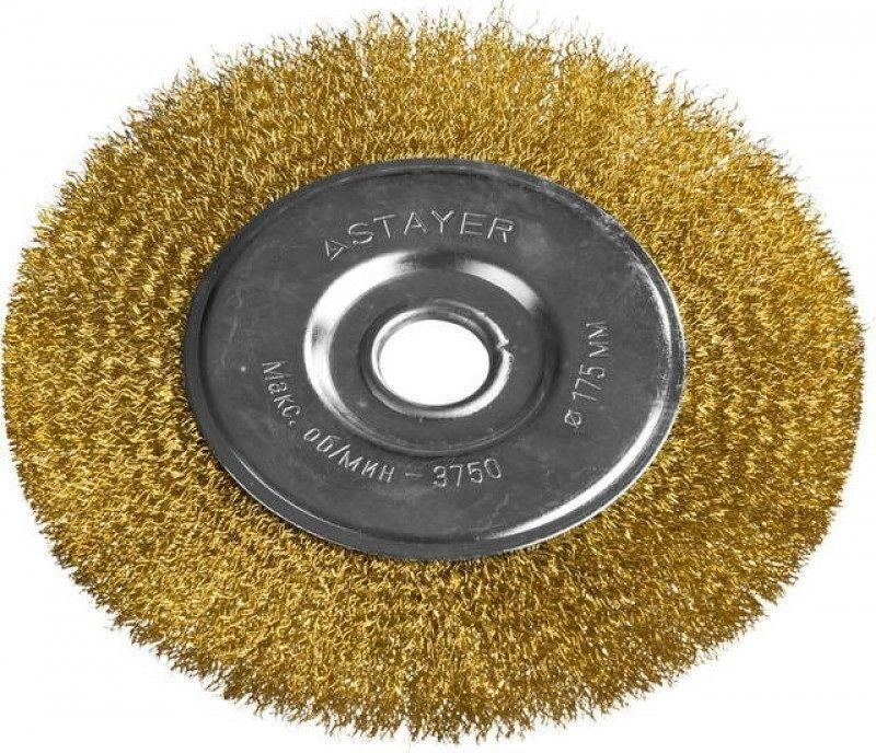 Щетка дисковая STAYER 35122-175,  по металлу,  175мм