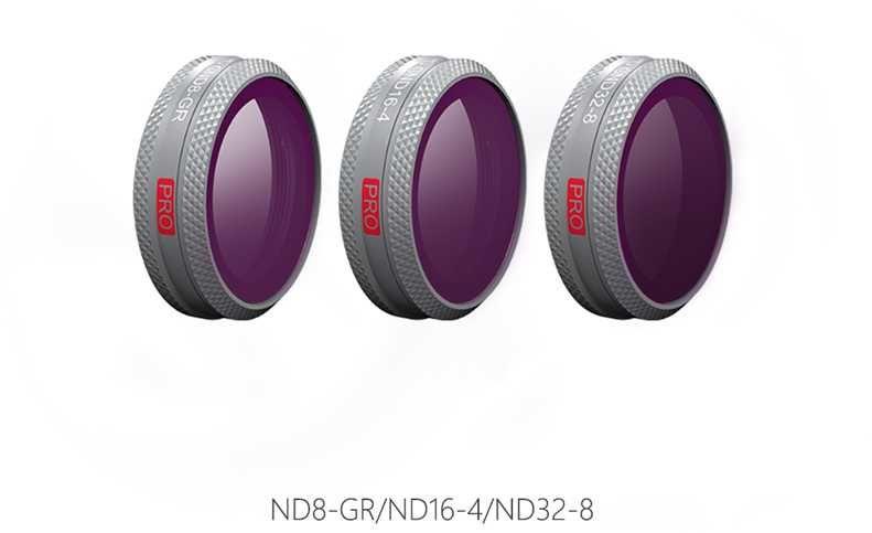 Набор фильтров для квадрокоптера Pgytech GND SET (ND8-GR ND16-4 ND32-8) P-HA-045 для DJI Mavic 2 Zoo