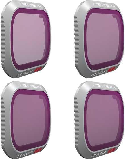 Набор фильтров для квадрокоптера Pgytech ND8/PL ND16/PL ND32/PL ND64/PL P-HAH-032 для DJI Mavic 2 Pr