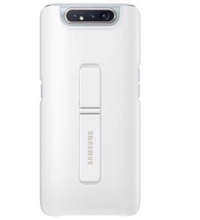 Чехол (клип-кейс) SAMSUNG Standing Cover, для Samsung Galaxy A80, белый [ef-pa805cwegru]