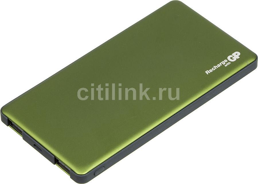 Внешний аккумулятор (Power Bank) GP Portable PowerBank MP05,  5000мAч,  зеленый [mp05mag]