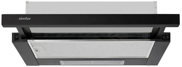 Вытяжка встраиваемая Simfer 7000 черный управление: кулисные переключатели (1 мотор)