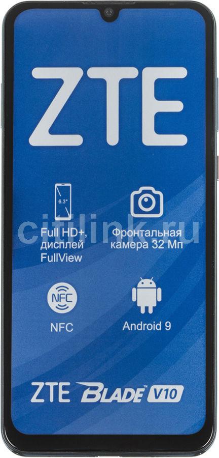 Смартфон ZTE Blade V10 64Gb,  синий