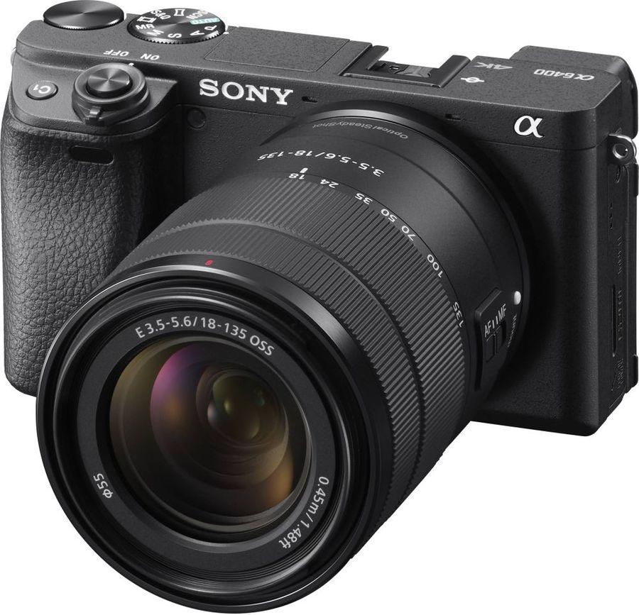 Фотоаппарат SONY Alpha A6400M kit ( E 18-135мм f/3.5-5.6 OSS), черный [ilce6400mb.cec]