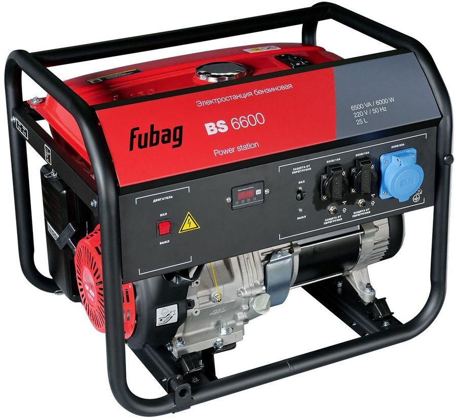 Бензиновый генератор FUBAG BS 6600,  230 В,  6.5кВт [838797]