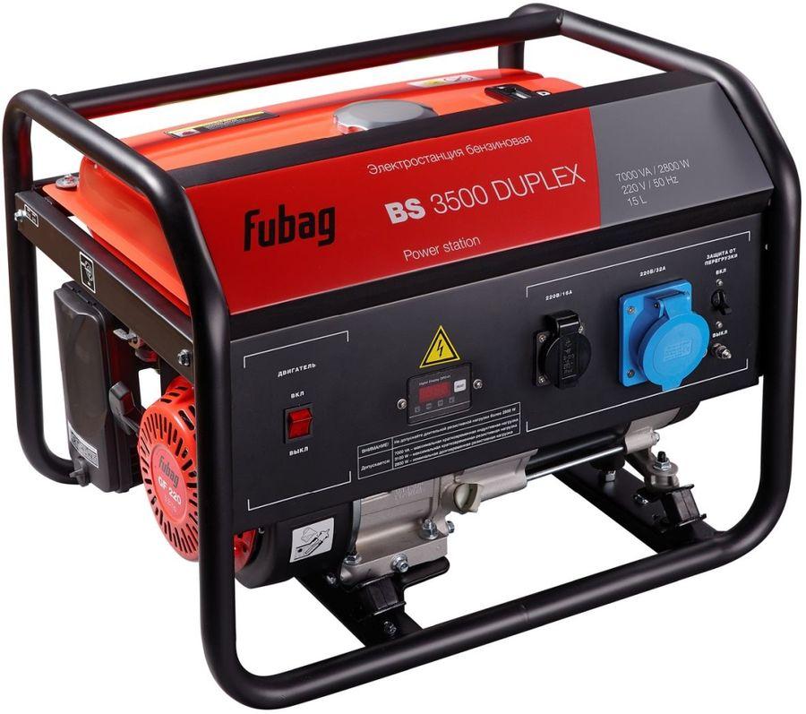 Бензиновый генератор FUBAG BS 3500 Duplex,  230 В,  3.1кВт [838755]