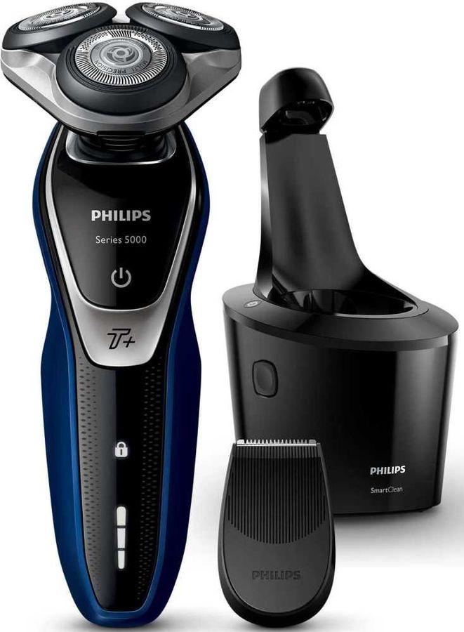 Электробритва PHILIPS Series 5000 S5572/10,  черный и синий