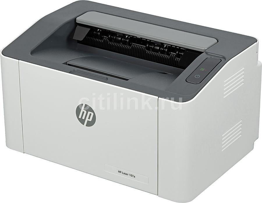 Принтер лазерный HP Laser 107a лазерный, цвет:  белый [4zb77a]