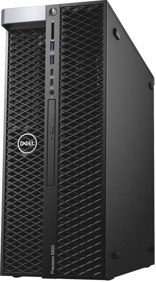 Рабочая станция  DELL Precision T5820,  Intel  Core i9  9900X,  DDR4 16Гб, 2Тб,  256Гб(SSD),  DVD-RW,  Windows 10 Professional,  черный [5820-2828]