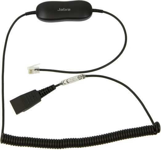 Кабель-переходник аудио JABRA GN1216 SmartCord SC Avaya,  QD  -  RJ10 ,  0.8м, черный [88001-03]