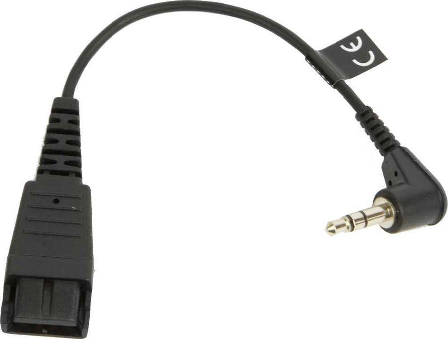 Кабель-переходник аудио JABRA Stereo SC,  QD  -  Jack 2.5 (m)  (Г-образный),  0.15м, черный [8800-00-46]
