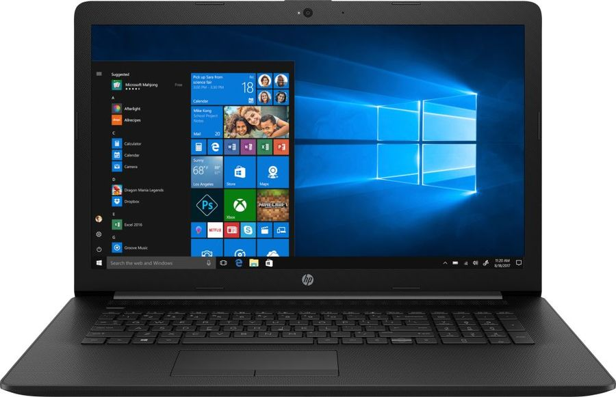 "Ноутбук HP 17-ca0144ur, 17.3"",  AMD  A4  9125 2.3ГГц, 4Гб, 128Гб SSD,  AMD Radeon  R3, DVD-RW, Windows 10, 7JT41EA,  черный"